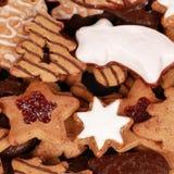 Συλλογή των μπισκότων Χριστουγέννων Στοκ Εικόνες