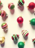 Συλλογή των μπιχλιμπιδιών Χριστουγέννων Στοκ Εικόνες