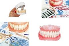 Συλλογή των οδοντοστοιχιών και των οδοντικών εικόνων έννοιας στοκ εικόνες