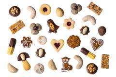 Συλλογή των παραδοσιακών σπιτικών μπισκότων Χριστουγέννων στοκ εικόνες