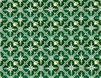 Συλλογή των πράσινων κεραμιδιών σχεδίων Στοκ εικόνες με δικαίωμα ελεύθερης χρήσης
