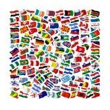 Συλλογή των σημαιών ελεύθερη απεικόνιση δικαιώματος
