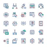 Συλλογή των σύγχρονων εικονιδίων τεχνολογίας απεικόνιση αποθεμάτων