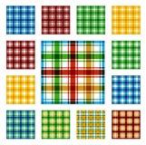 Συλλογή των τετραγωνικών άνευ ραφής σχεδίων Στοκ εικόνες με δικαίωμα ελεύθερης χρήσης
