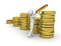 συλλογή των χρημάτων ατόμω&n Στοκ Φωτογραφία
