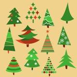 Συλλογή των χριστουγεννιάτικων δέντρων Στοκ Εικόνα