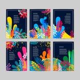 Συλλογή των όμορφων δημιουργικών καρτών διανυσματική απεικόνιση