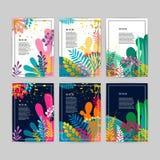 Συλλογή των όμορφων δημιουργικών καρτών ελεύθερη απεικόνιση δικαιώματος
