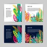Συλλογή των όμορφων δημιουργικών καρτών απεικόνιση αποθεμάτων
