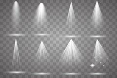 Συλλογή φωτισμού σκηνής, διαφανής διανυσματική απεικόνιση