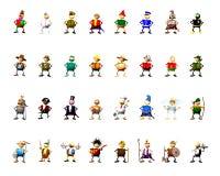 συλλογή χαρακτήρα clipart στοκ εικόνες