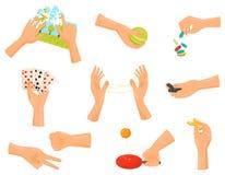 Συλλογή χεριών παιχνιδιών Όπλα ψυχαγωγίας και επιδεξιότητας απεικόνιση αποθεμάτων