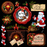 Συλλογή Χριστουγέννων. Στοκ εικόνες με δικαίωμα ελεύθερης χρήσης
