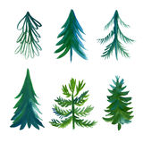 Συλλογή χριστουγεννιάτικων δέντρων Στοκ Εικόνα
