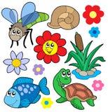 συλλογή 5 ζώων μικρή Στοκ Εικόνες