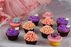 συλλογή cupcakes εορταστική στοκ φωτογραφία με δικαίωμα ελεύθερης χρήσης