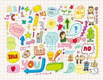 συλλογή doodles Στοκ φωτογραφία με δικαίωμα ελεύθερης χρήσης