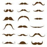 Συλλογή Mustache Σύνολο εκλεκτής ποιότητας και αναδρομικού mustache για το σχέδιο ύφους hipster απεικόνιση αποθεμάτων
