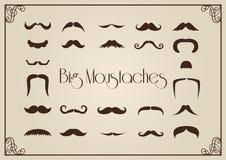 Συλλογή Mustaches Στοκ εικόνα με δικαίωμα ελεύθερης χρήσης