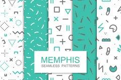 Συλλογή swatches των σχεδίων της Μέμφιδας - άνευ ραφής Η 80-δεκαετία του '90 μόδας ελεύθερη απεικόνιση δικαιώματος