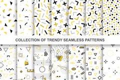 Συλλογή swatches των σχεδίων της Μέμφιδας - άνευ ραφής σχέδιο Η 80-δεκαετία του '90 μόδας Αφηρημένα καθιερώνοντα τη μόδα διανυσμα ελεύθερη απεικόνιση δικαιώματος