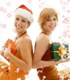 συμβαλλόμενο μέρος κοριτσιών Χριστουγέννων Στοκ εικόνα με δικαίωμα ελεύθερης χρήσης