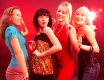 συμβαλλόμενο μέρος κοριτσιών Στοκ φωτογραφίες με δικαίωμα ελεύθερης χρήσης