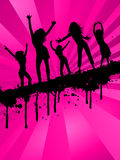 συμβαλλόμενο μέρος κοριτσιών grunge Στοκ Φωτογραφία