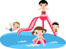 Συμβαλλόμενο μέρος λιμνών παιδιών Στοκ Φωτογραφίες
