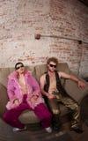συμβαλλόμενο μέρος μουσικής Disco της δεκαετίας του '70 Στοκ Φωτογραφία