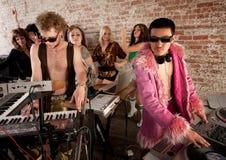 συμβαλλόμενο μέρος μουσικής Disco της δεκαετίας του '70 Στοκ φωτογραφία με δικαίωμα ελεύθερης χρήσης