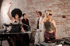 συμβαλλόμενο μέρος μουσικής Disco της δεκαετίας του '70 Στοκ Εικόνες