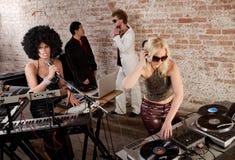 συμβαλλόμενο μέρος μουσικής Disco της δεκαετίας του '70 Στοκ εικόνες με δικαίωμα ελεύθερης χρήσης