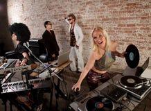 συμβαλλόμενο μέρος μουσικής Disco της δεκαετίας του '70 Στοκ φωτογραφίες με δικαίωμα ελεύθερης χρήσης