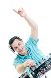 Συμβαλλόμενο μέρος του DJ Στοκ φωτογραφία με δικαίωμα ελεύθερης χρήσης