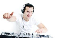 Συμβαλλόμενο μέρος του DJ Στοκ εικόνα με δικαίωμα ελεύθερης χρήσης