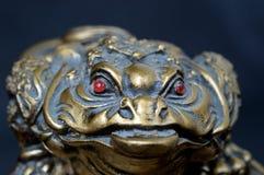 Συμβολικός βάτραχος αναμνηστικών Μπροστινή όψη στοκ φωτογραφίες