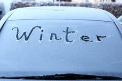 Συμβολικός χειμώνας σε ένα αυτοκίνητο στοκ φωτογραφία με δικαίωμα ελεύθερης χρήσης