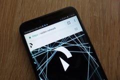 Συμβολικός RDN Raiden ιστοχώρος cryptocurrency δικτύων που επιδεικνύεται σε ένα σύγχρονο smartphone στοκ εικόνα με δικαίωμα ελεύθερης χρήσης