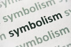 Συμβολισμός λέξης που τυπώνεται στη μακροεντολή εγγράφου στοκ εικόνα
