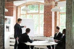 Συμβουλευτική επιχειρησιακή ομάδα CEO για τη νέα ροή της δουλειάς Στοκ φωτογραφίες με δικαίωμα ελεύθερης χρήσης