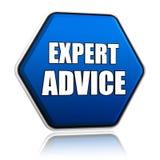 Συμβουλή από ειδήμονες μπλε hexagon απεικόνιση αποθεμάτων