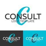 Συμβουλευθείτε το λογότυπο Λογότυπο γραμμάτων Γ Διανυσματικό πρότυπο λογότυπων Έννοια Logotype ελεύθερη απεικόνιση δικαιώματος