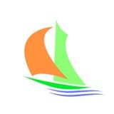 Συμβολική εικόνα sailboat Στοκ Εικόνα