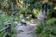Συμβολικό νεκροταφείο σε υψηλό Tatras, Σλοβακία Στοκ Εικόνα