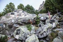 Συμβολικό νεκροταφείο σε υψηλό Tatras, Σλοβακία Στοκ Εικόνες
