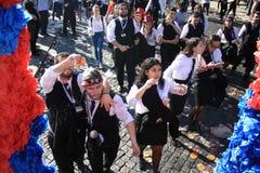Συμμετέχοντες κατά τη διάρκεια του παραδοσιακού εορτασμού Στοκ Εικόνες