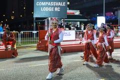 Συμμετέχοντες στον εορτασμό του κινεζικού σεληνιακού νέου έτους Στοκ Εικόνες