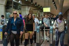 Συμμετέχοντες στον υπόγειο χωρίς εσώρουχα Στοκ φωτογραφίες με δικαίωμα ελεύθερης χρήσης