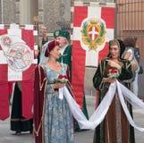 Γυναίκες των Μεσαιώνων Στοκ εικόνες με δικαίωμα ελεύθερης χρήσης
